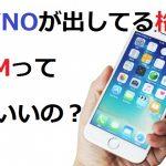 MVNOが出してる格安SIMっていいの?